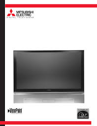 mitsubishi electronics projection television wd 62327 user guide