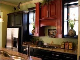 KitchenKitchen Wall Light Brown Cabinets White Kitchen With Black Appliances Off