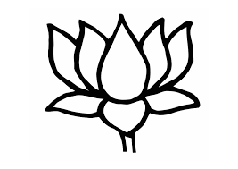 Lotus Flower Coloring Pages Easy