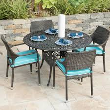 Gentilly 5 Piece Wicker Patio Dining Set W/ 48 Inch Round Table ... Teak Hardwood Ash Wicker Ding Side Chair 2pk Naples Beautiful Room Table Wglass Model N24 By Rattan Kitchen Youtube Pacific Rectangular Outdoor Patio With 6 Armless 56 Indoor Set Looks Like 30 Ikea Fniture Sicillian 8 Seater Square Stone And Chairs In Half 100 Handmade Tablein Garden Sets Burridge 4ft Round In Antique White Oak World New Ideas Awesome Unique Black