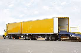 100 Semi Truck Trailers Double Trailer Stock Photo Picture And Royalty Free
