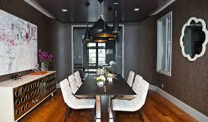 View In Gallery Brilliant Combination Of Gray Black And White The Dining Room Design MB
