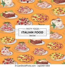 national cuisine of food poster with national cuisine dishes vector