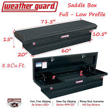 121-5-01 WEATHER GUARD Black Aluminum Saddle Box 71