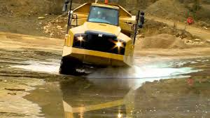 100 Articulating Truck Cat B Series Articulated Dump Proven Suspension Final YouTube