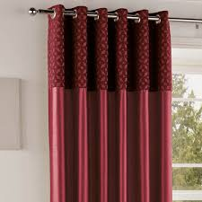 Faux Silk Eyelet Curtains by Red Eyelet Curtains 90 X 90 Centerfordemocracy Org