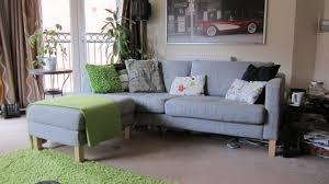 Karlstad Sofa Cover Colors by Ikea Karlstad Isundra Grey 3 Seater Sofa U0026 Footstool Cushions