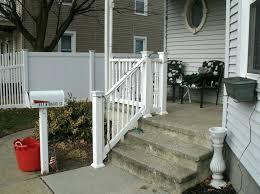 Porch Steps Handrail White Going to Porch Steps Handrail