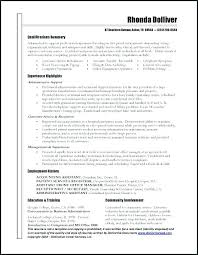Examples Of Functional Resume Summary Administrative Assistant Sample