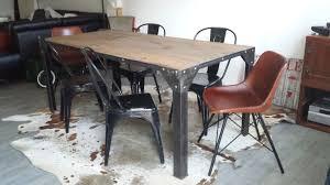 table de salle à manger industrielle 2017 avec table salle manger