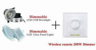 265v 200w led dimmer ir knob remote switch for dimmable