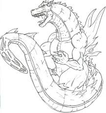 Huge And Mighty Godzilla Coloring Pages