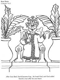 King David Bible Coloring Page For Kids To Learn Stories In Pages