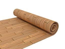 Wood Grid And Laminate Plastic Flooring