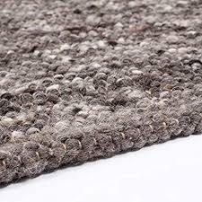web teppich reine schur wolle im skandinavischen design wohnzimmer esszimmer schlafzimmer flur läufer grau beige oslo grau 60 x 120 cm