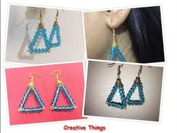 How To Make Crystal Beads Earrings Step By At Home