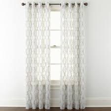 Grommet Top Curtains Jcpenney by Studio Casey Sheer Grommet Top Curtain Panel Jcpenney