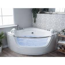 eckbadewanne whirlpool weiß sanitäracryl 140 cm led mit 7 farben badezimmer