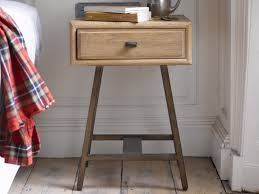 Campaign Vintage Style Bedside Table