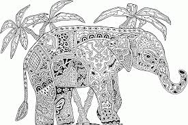 Elephants Abstract Doodle Coloring Pages 70 Elephant