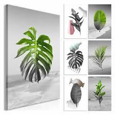 details zu leinwand bilder blumen pflanzen blßtter wandbilder wohnzimmer monstera bild