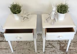 Threshold Campaign Desk Dimensions by White Side Tables Bedroom With A White Headboard White Bedding