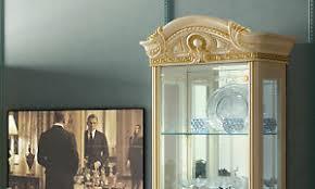 details zu vitrine glasvitrine wohnzimmerschrank beige hochglanz stil italienisch klassisch