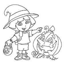 Dora With Halloween Pumpkin