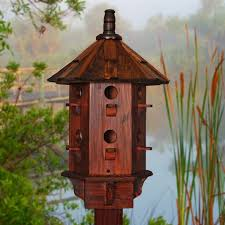 Garden Decor Cool Accessories For Decoration With Dark Brown Wood Floor Birdhouse