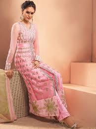 buy baby pink anarkali suits online frankfurt baby pink kalidar suit