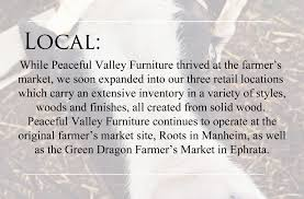 Wel e Peaceful Valley Amish Furniture