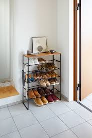 tower 6 tiered wood top shoe rack tidy yamazaki home