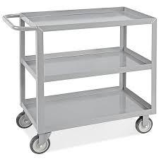 Uline Welded 3 Shelf Steel Cart