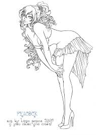 Anime Girl Coloring Page Pages