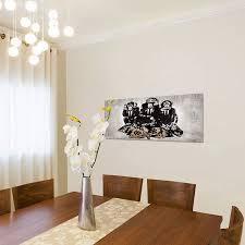 bilder banksy affen wandbild 150 x 60 cm vlies