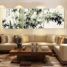 stunning wall decor ideas living room green bamboo canvas wall
