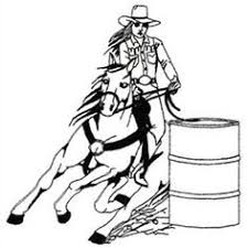 Dakota Collectibles Embroidery Design Barrel Racer Outline 614 Inches H X 604 W