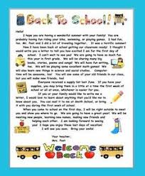 This is a wel e letter for first grade I usually send this home