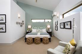 Fascinating White Bedroom Combine With Pastel Blue Accents Wall Decoration Filled Comfy Bed Plus Decorative
