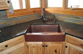 Mountain Rustic Copper Farm Sink Single Basin