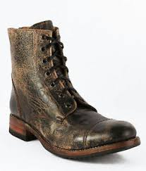BED Stu Men s Protege Black Lux wash Leather Boots
