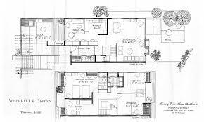 Mid Century Modern Home Floor Plans Modern House Small Mid