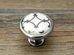 bouton placard cuisine commode boutons tiroir bouton tire poignées blanc argent