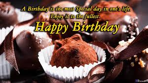 Chocolate Birthday Wishing Cake Desktop