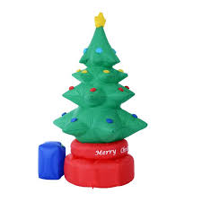 5 Artificial Holiday Fiber Optic Light Up Christmas Tree