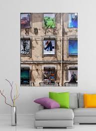 acrylglasbilder 3 teilig 100x120cm altes hotel lissabon kunst design acrylbild acrylglas acrylbilder wand bild 14e019 wandtattoos und leinwandbilder