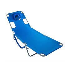 Details About Ostrich Chaise Lounge Folding Portable Sunbathing Poolside  Beach Chair, Blue