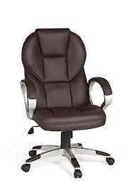 fauteuil bureau en cuir amstyle matera chaise de bureau cuir marron amazon fr cuisine