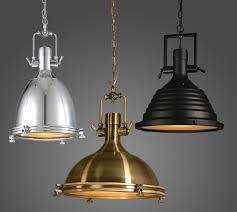 vintage l american style e27 copper chrome black pendant ls