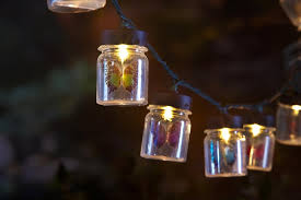 Home Decoration Beautiful Butterfly Jar Outdoor String Lights And